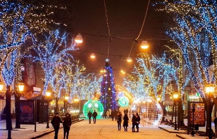 Зимние праздники в Одессе